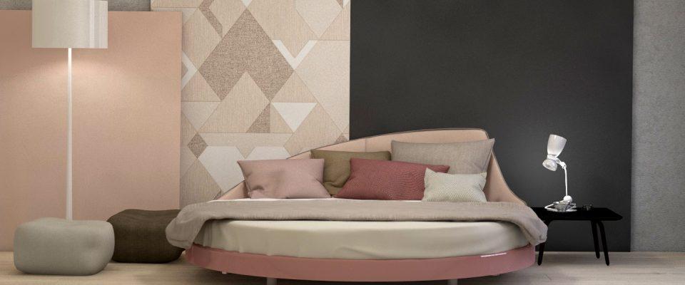 круглая кровать в стиле модерн
