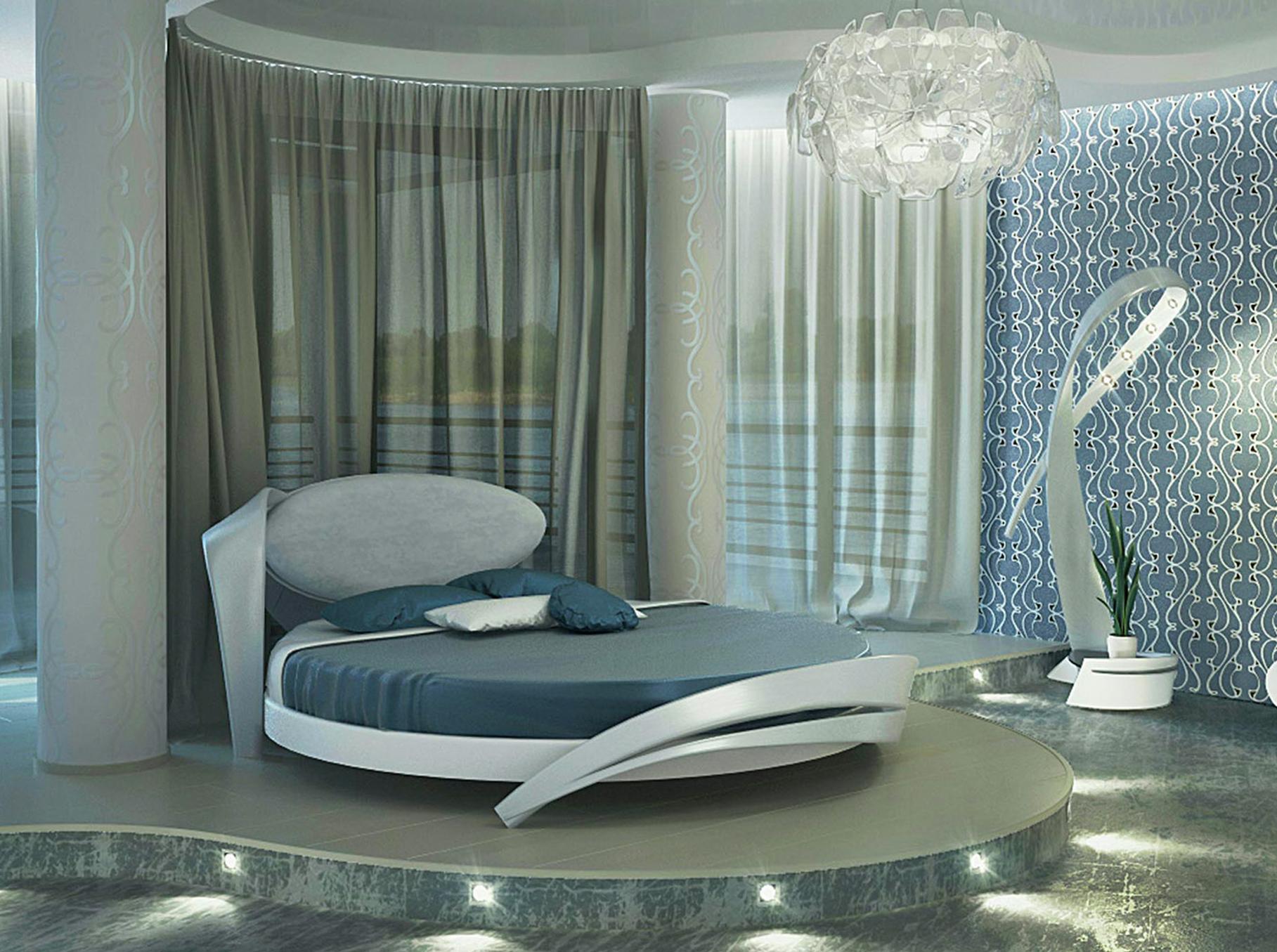 круглые кровати в спальню