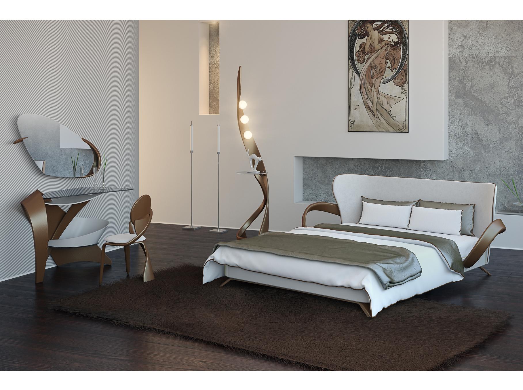 дизайнерские кровати из дерева