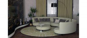 Большой модульный диван