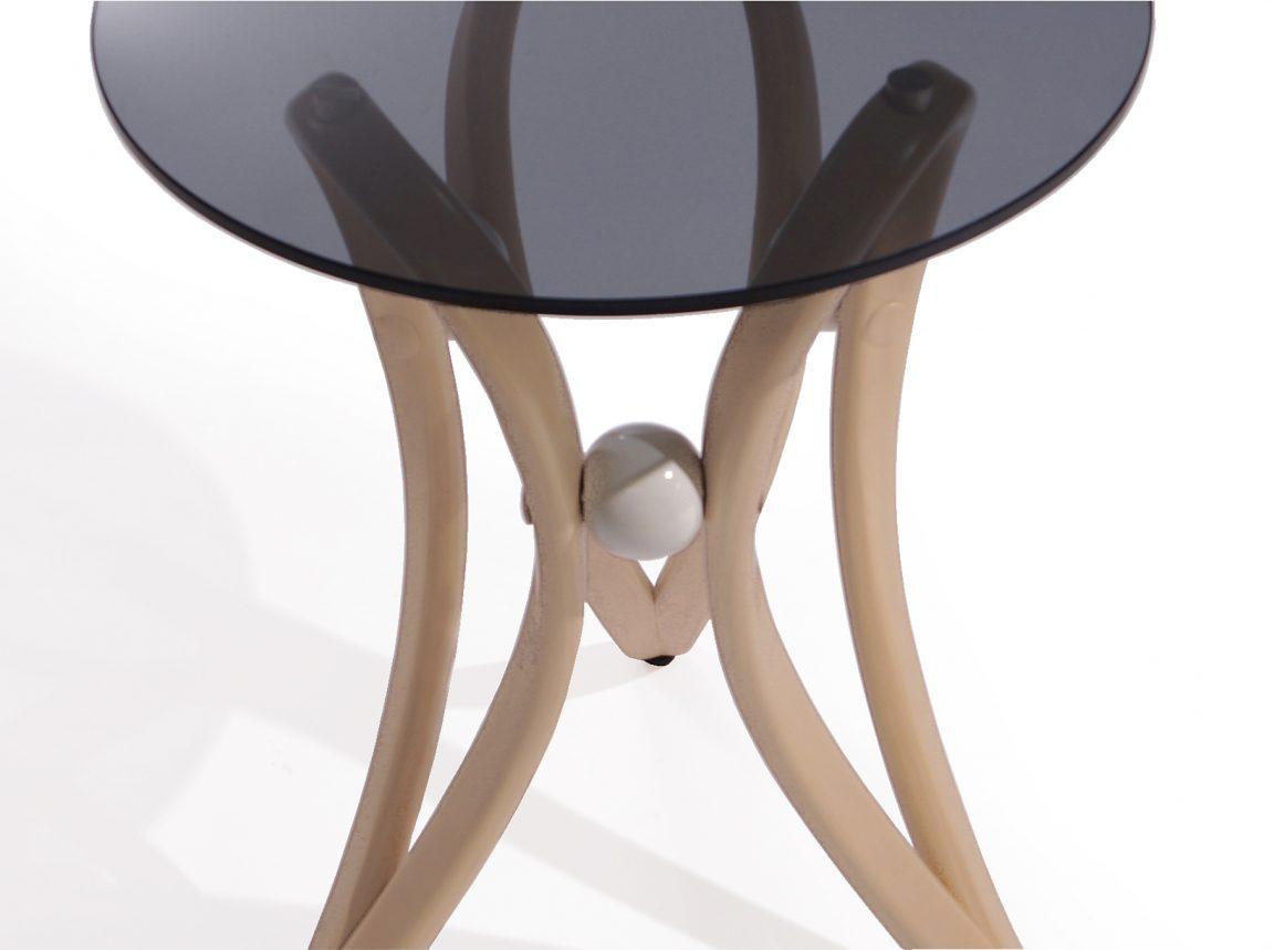 Стильный столик прикроватный круглый