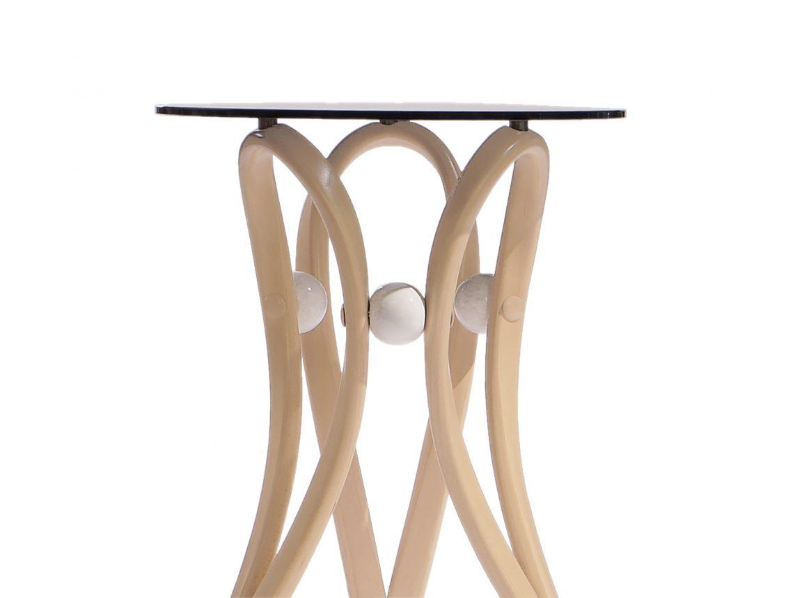Прозрачный кофейный стол из массива