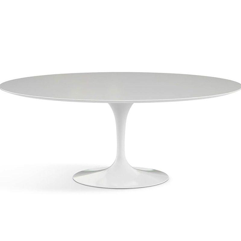 Белый круглый стол обеденный