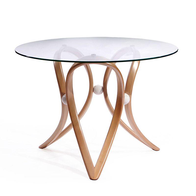 Шикарный круглый стол со стеклом