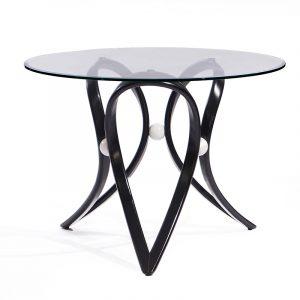 прозрачный круглый стол кухонный