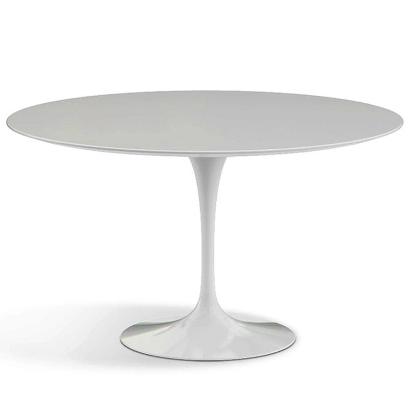 Белый круглый стол на кухню