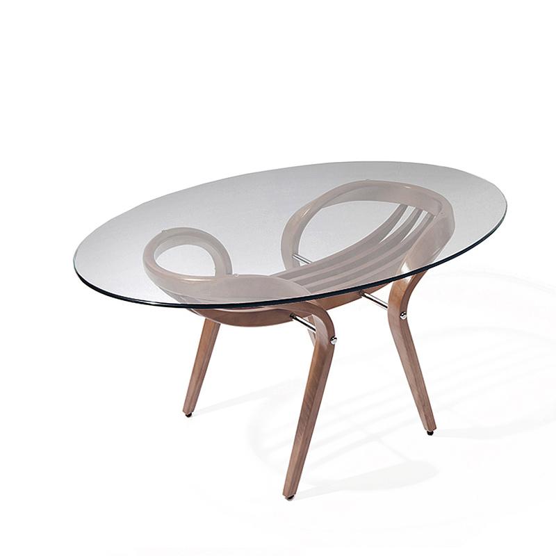 Потрясающий столик со стеклом овальный