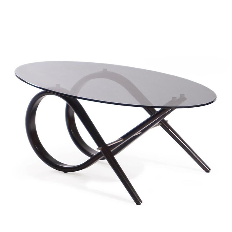 Овальный столик журнальный со стеклом