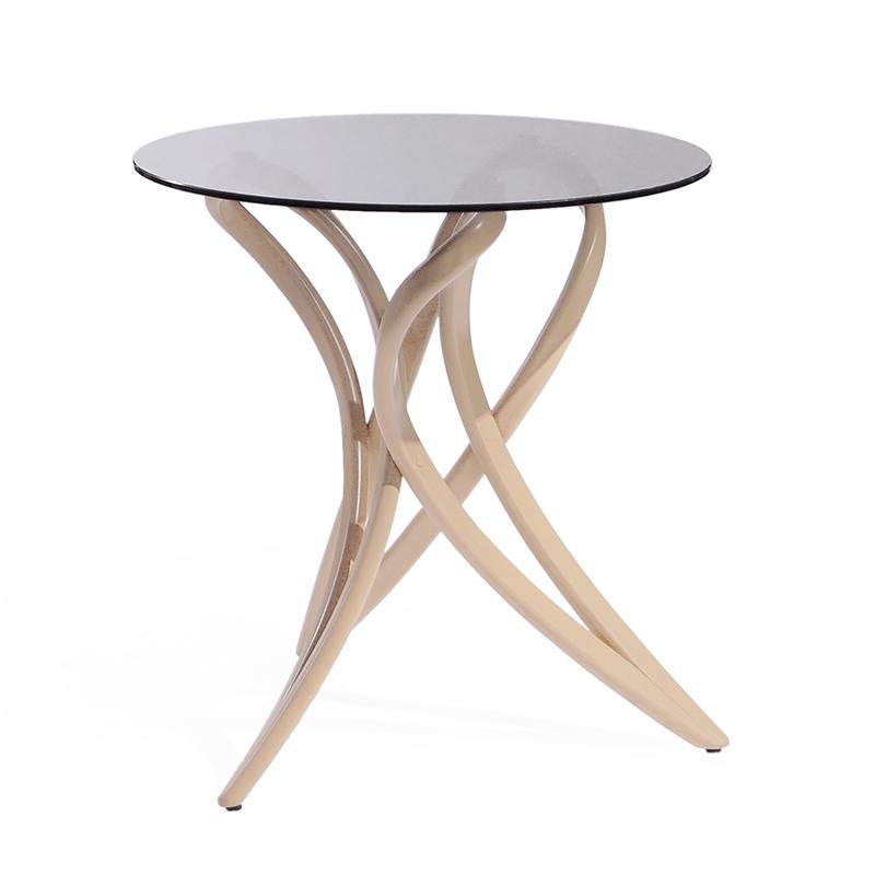 Прозрачный кофейный стол со стеклом