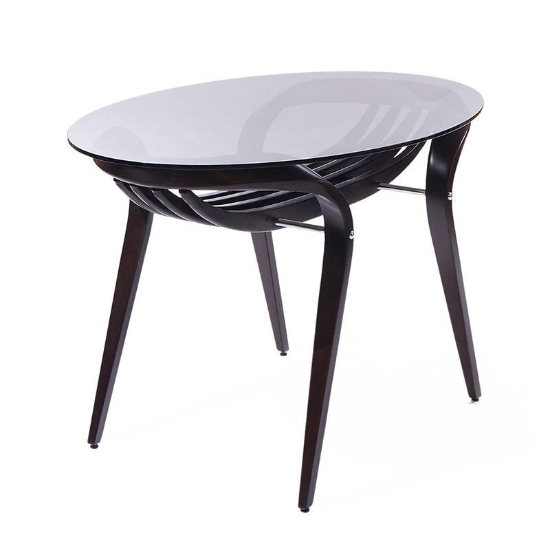 стильный прозрачный стол кофейный
