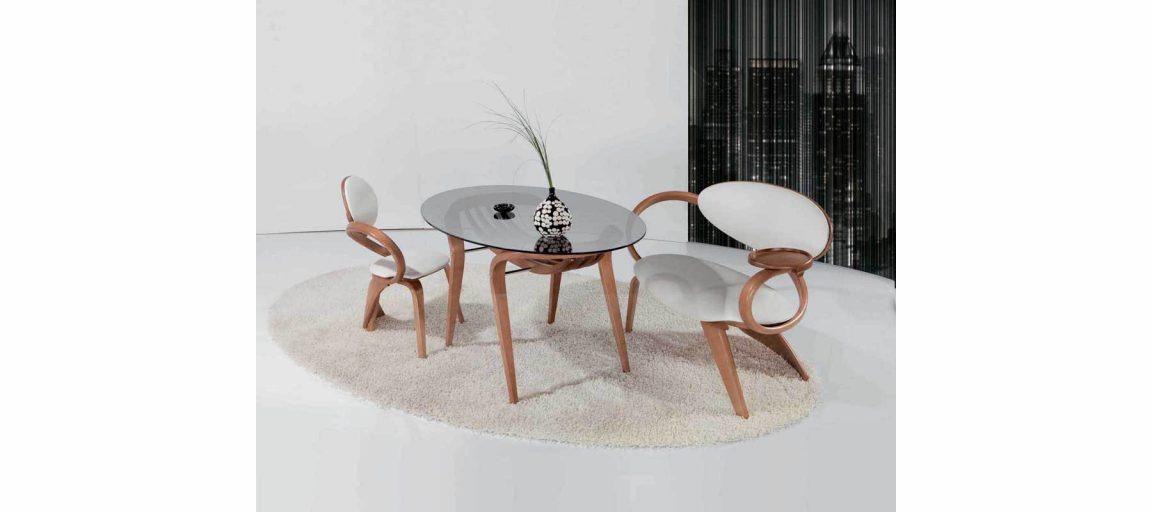 Дизайнерский обеденный стол овальный