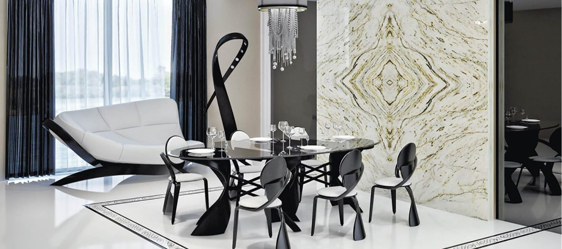 Дизайнерский стол из массива венге