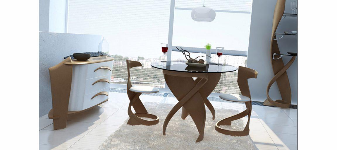 Элегантные стулья светлые в столовую