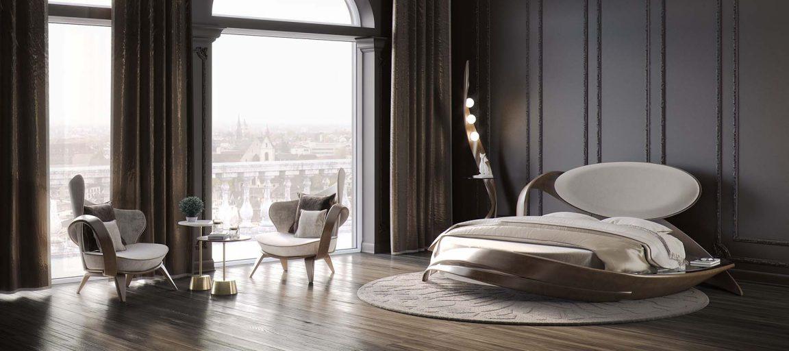 уютное кресло для отдыха в спальне