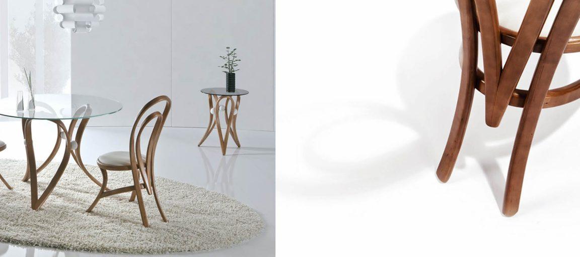 Уникальный круглый столик из массива