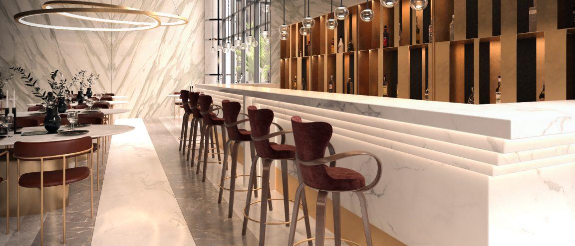 Роскошный барный стул для кафе