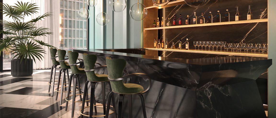 Дизайнерские барные стулья для ресторана