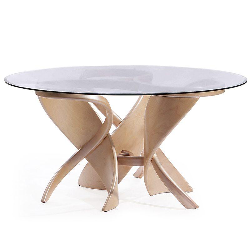 Большой стеклянный стол круглый