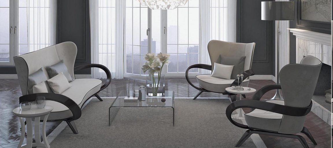 современный интерьер с диваном Априори S