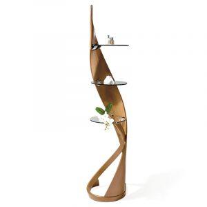 этажерка дизайнерская натуральное дерево