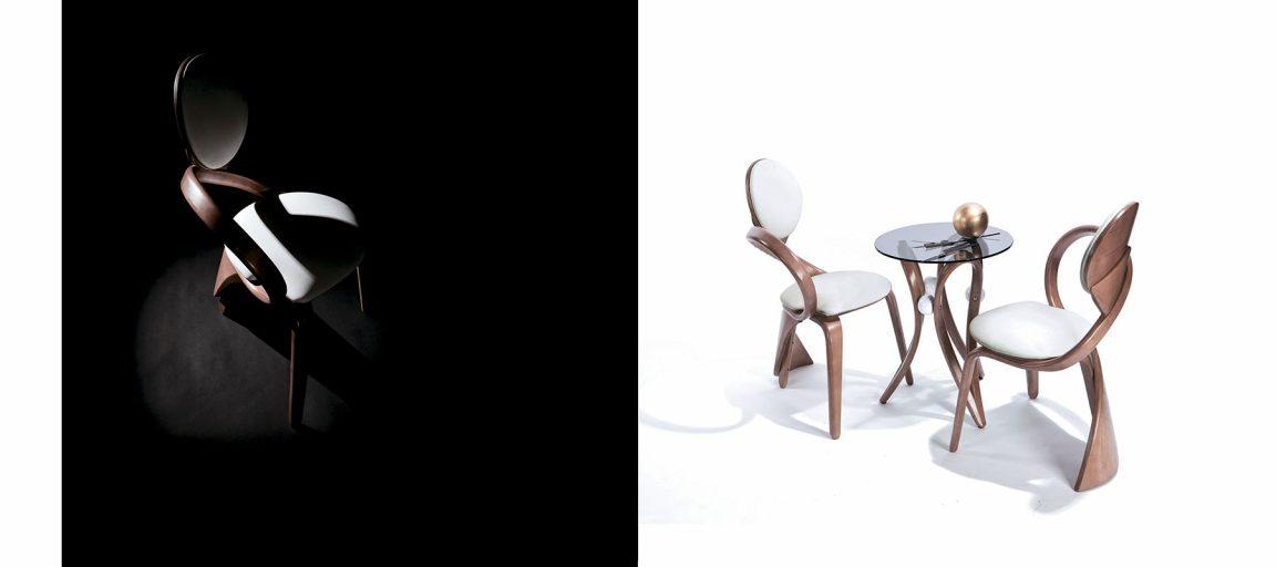 Дизайнерский столик со стеклянной столешницей