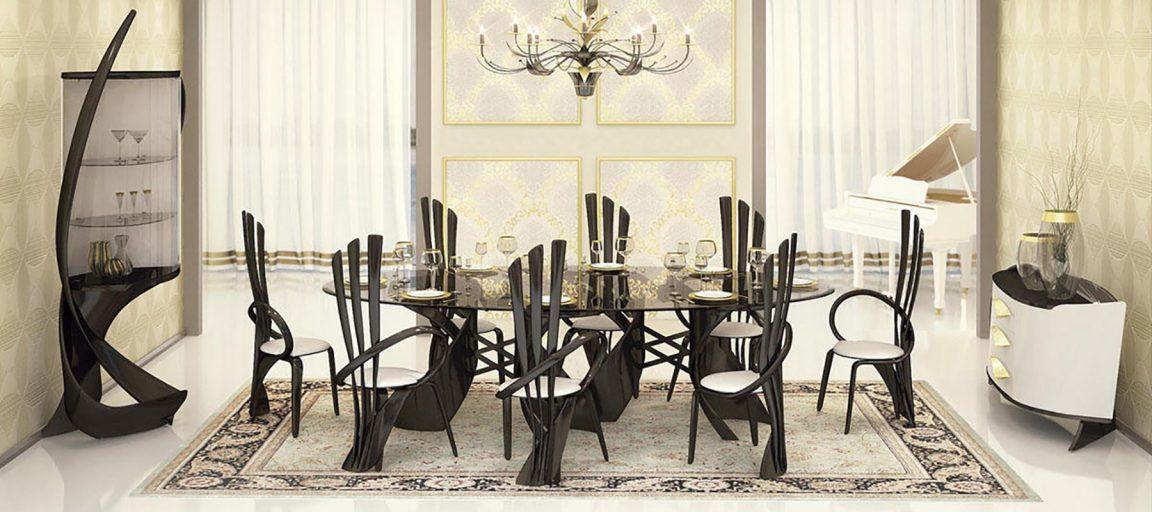 большой итальянский стол со стульями
