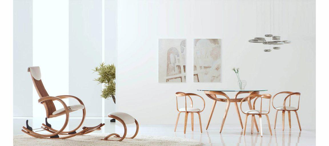 эксклюзивный стул с плавными изгибами
