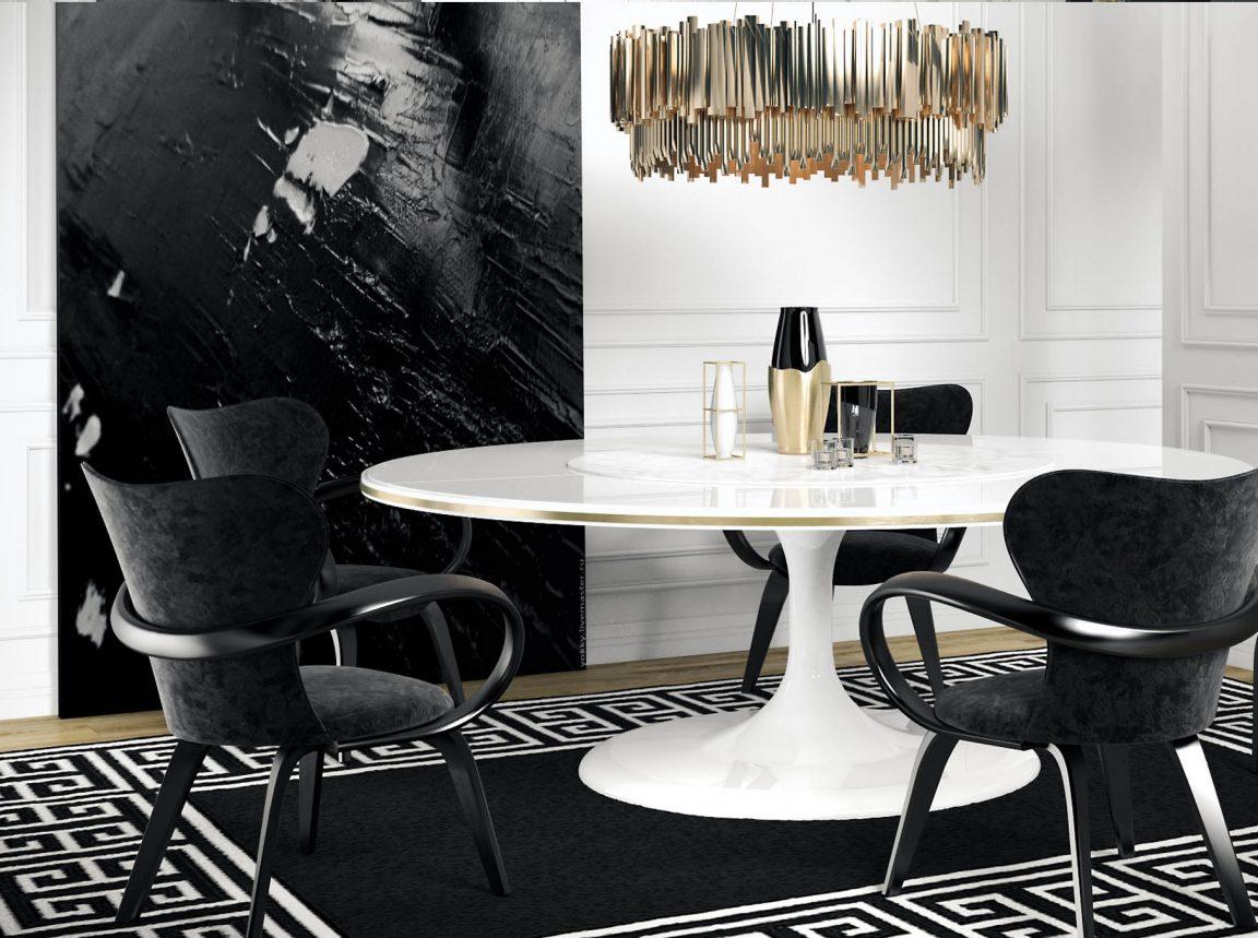 Современный овальный стол в белом цвете