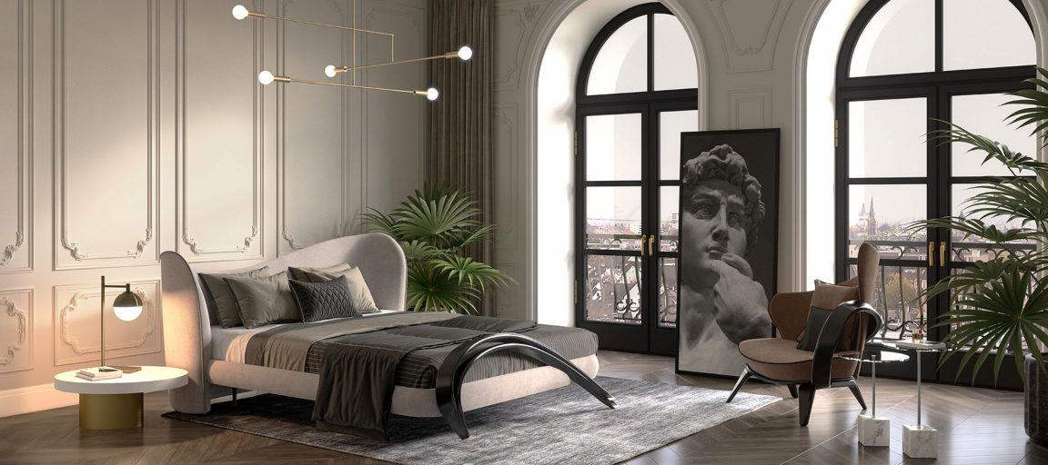 нежная спальня в итальянском стиле