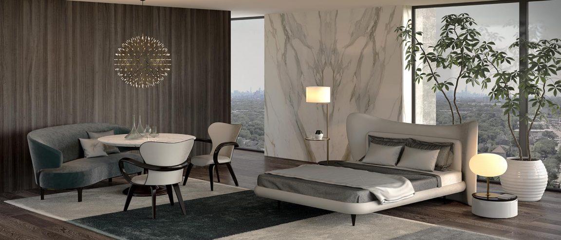 спальня в современном стиле Minotti