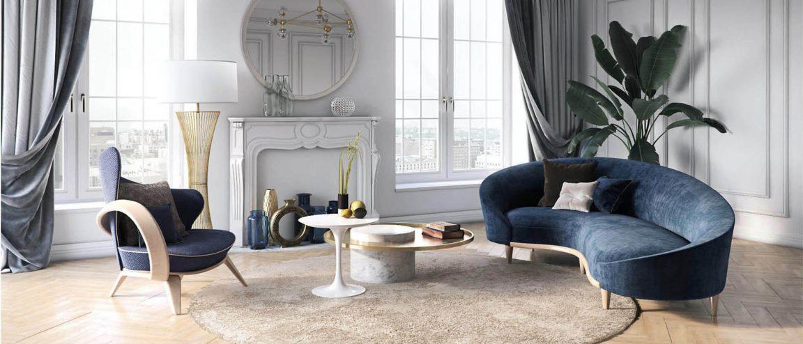 Белый круглый невысокий столик