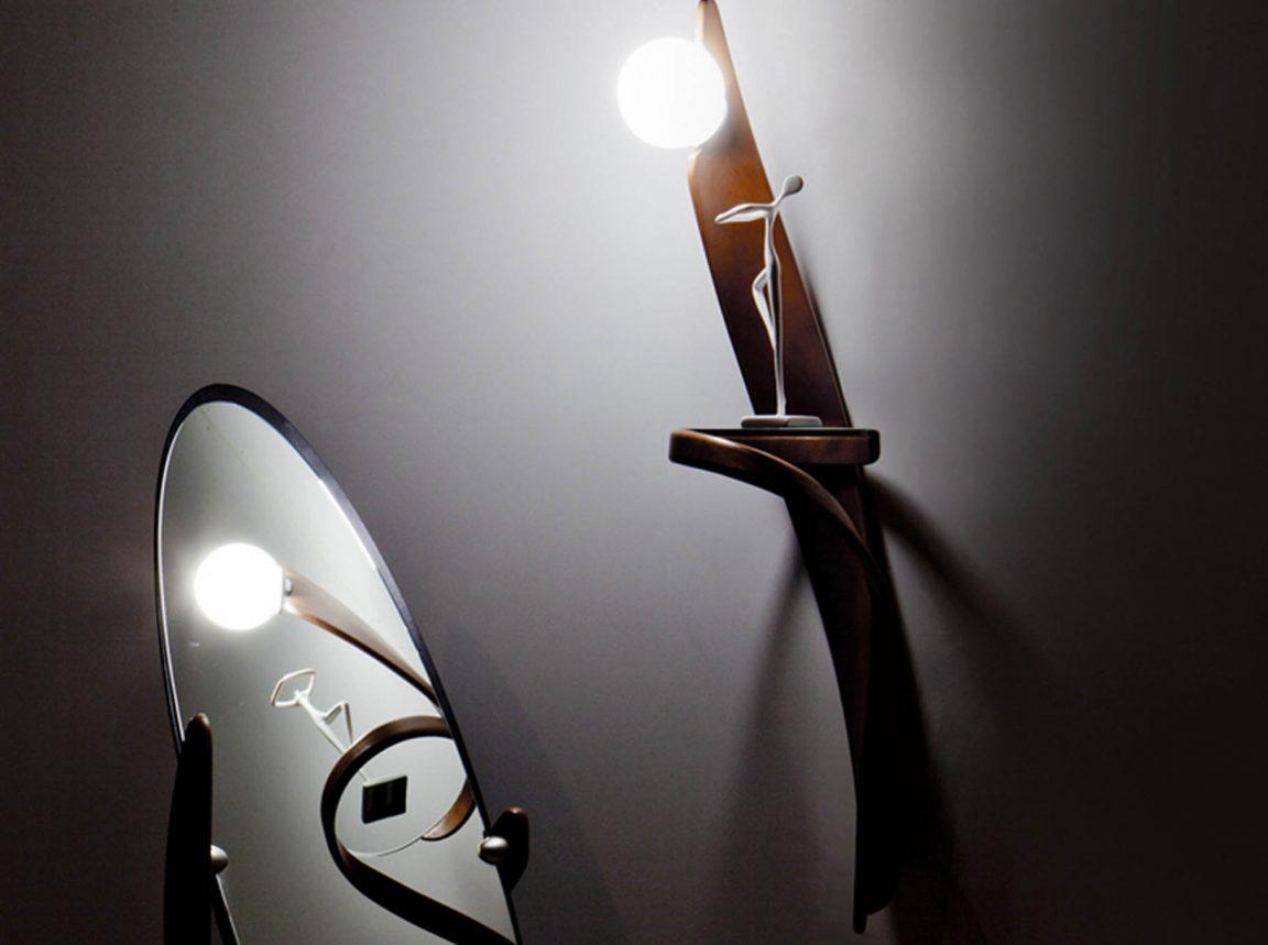 зеркало напольное виртуоз и бра