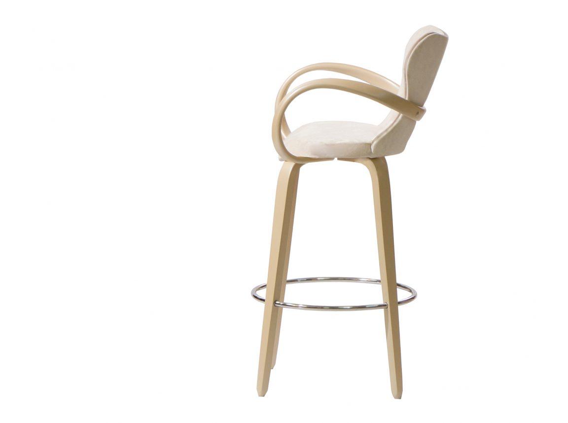 Барный стул с мягкой спинкой