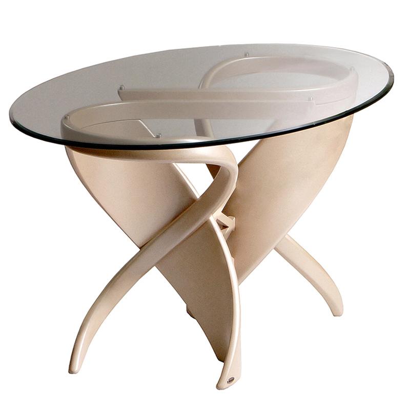 Дизайнерский обеденный стол светлый