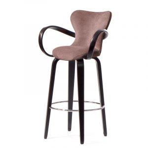 элегантный барный стул с мягкой спинкой