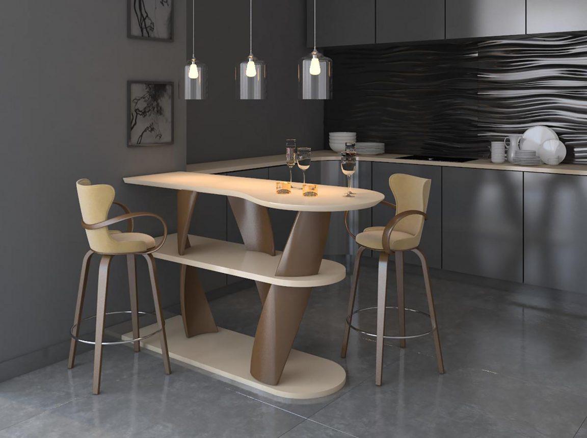 барный стол необычной формы