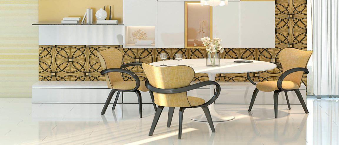 модный стол в белом цвете