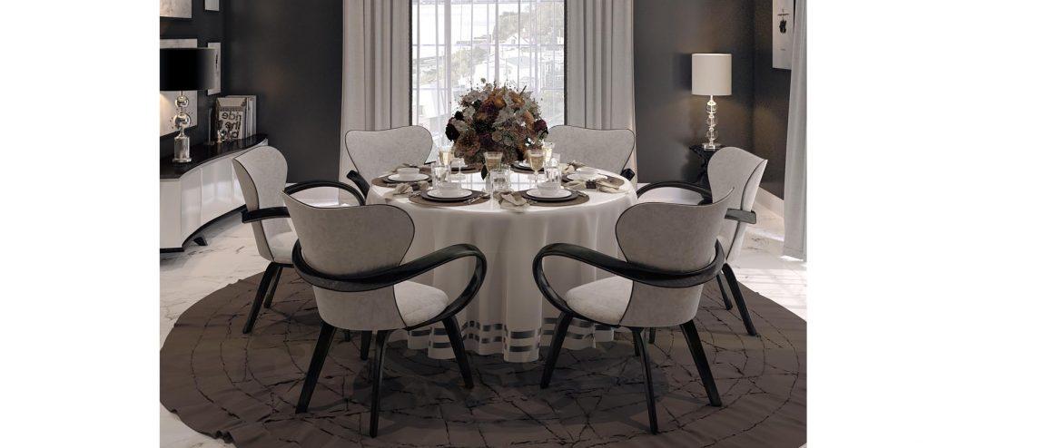 Красивые стулья со столом для столовой
