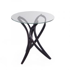 Стеклянный кофейный стол небольшой