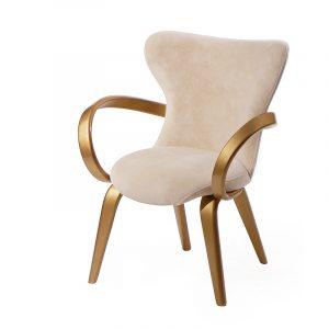 Уникальное кресло с подлокотниками из массива
