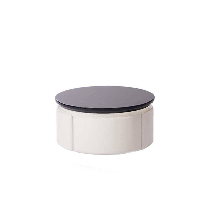 Круглая прикроватная тумбочка с ящиком