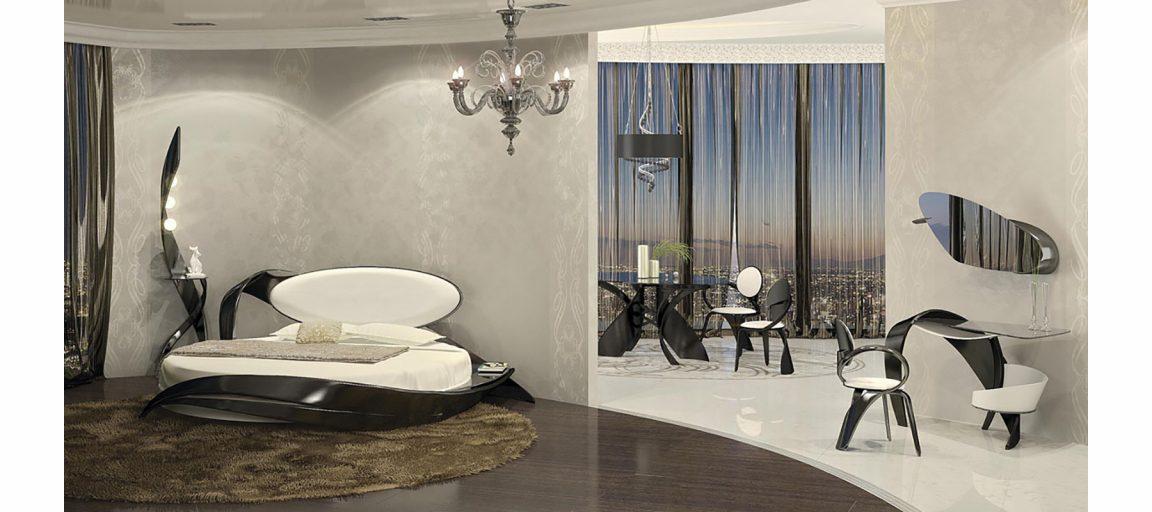Дизайнерское зеркало на стену в спальню