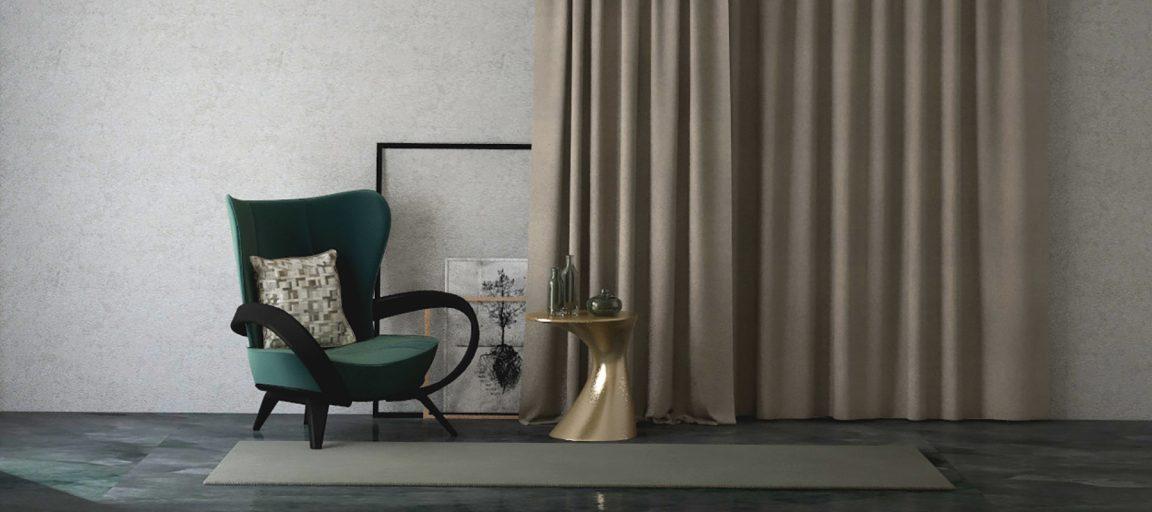Деревянное кресло с изогнутыми подлокотниками