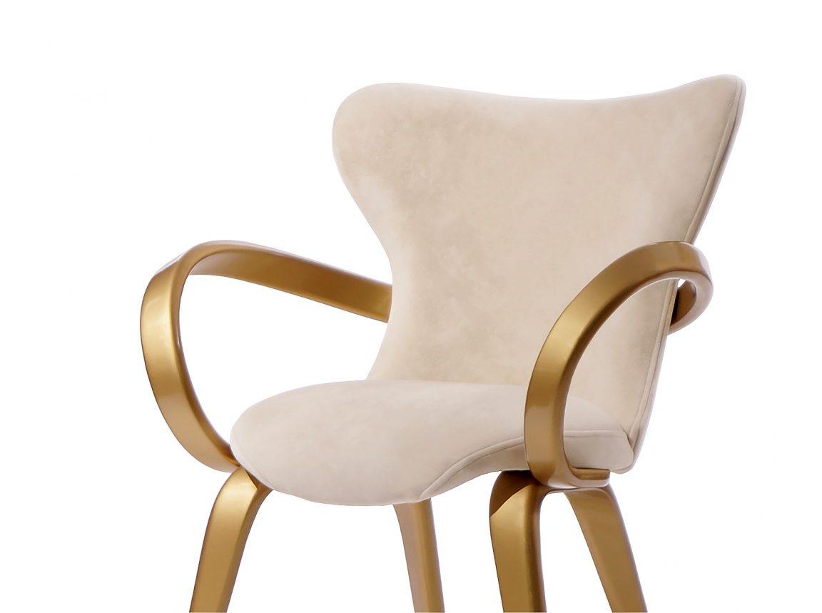 Золотой классический стул для обеденной