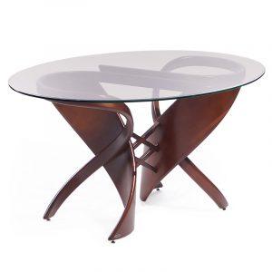 Изогнутый деревянный стол овальный