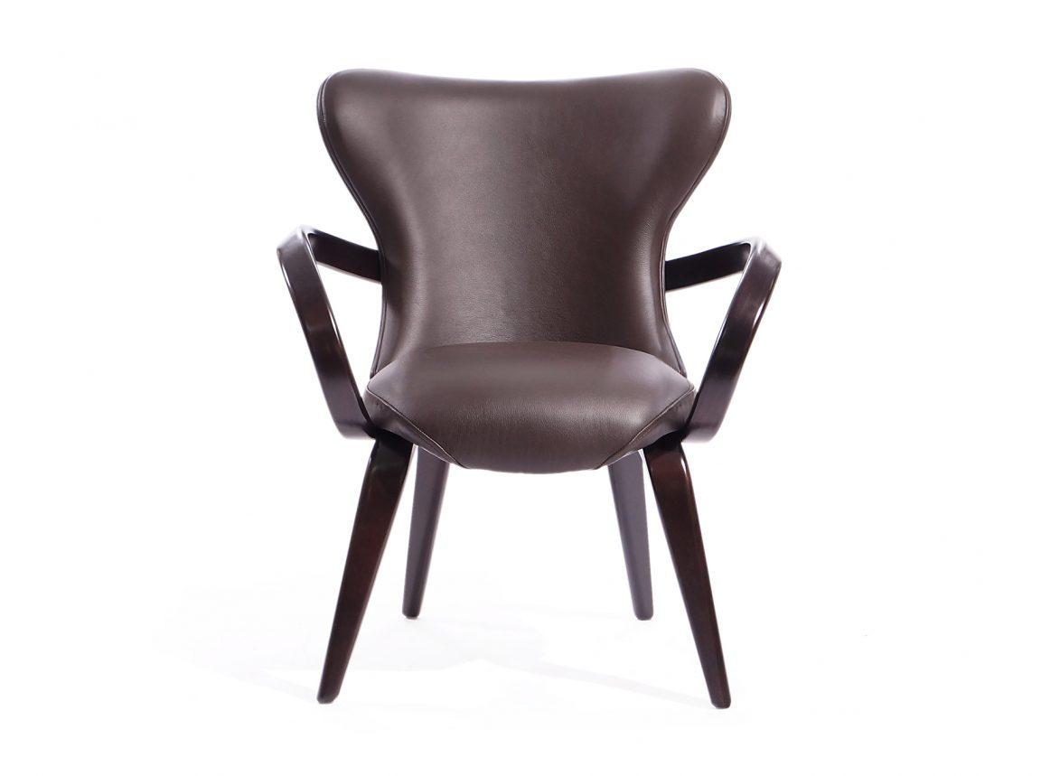 Элитный кожаный стул из массива