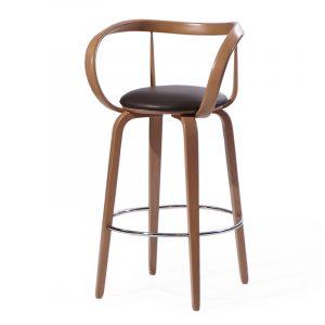 Деревянный стул барный темный