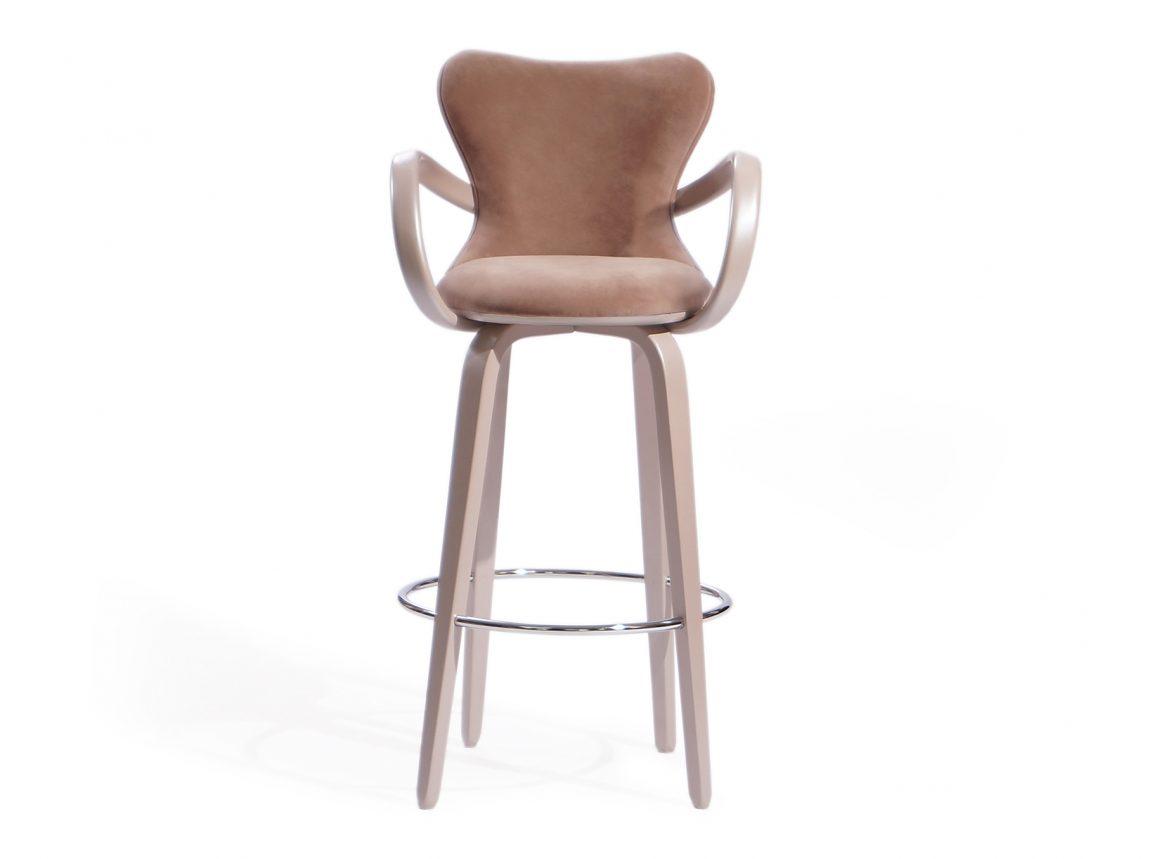 Универсальный барный стул с подлокотниками