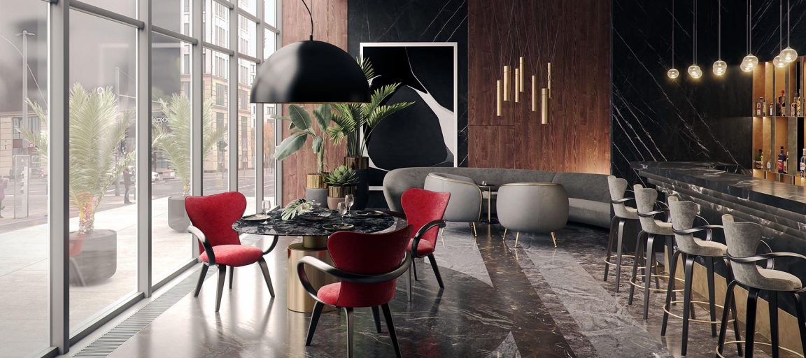 Шикарное яркое кресло для ресторана