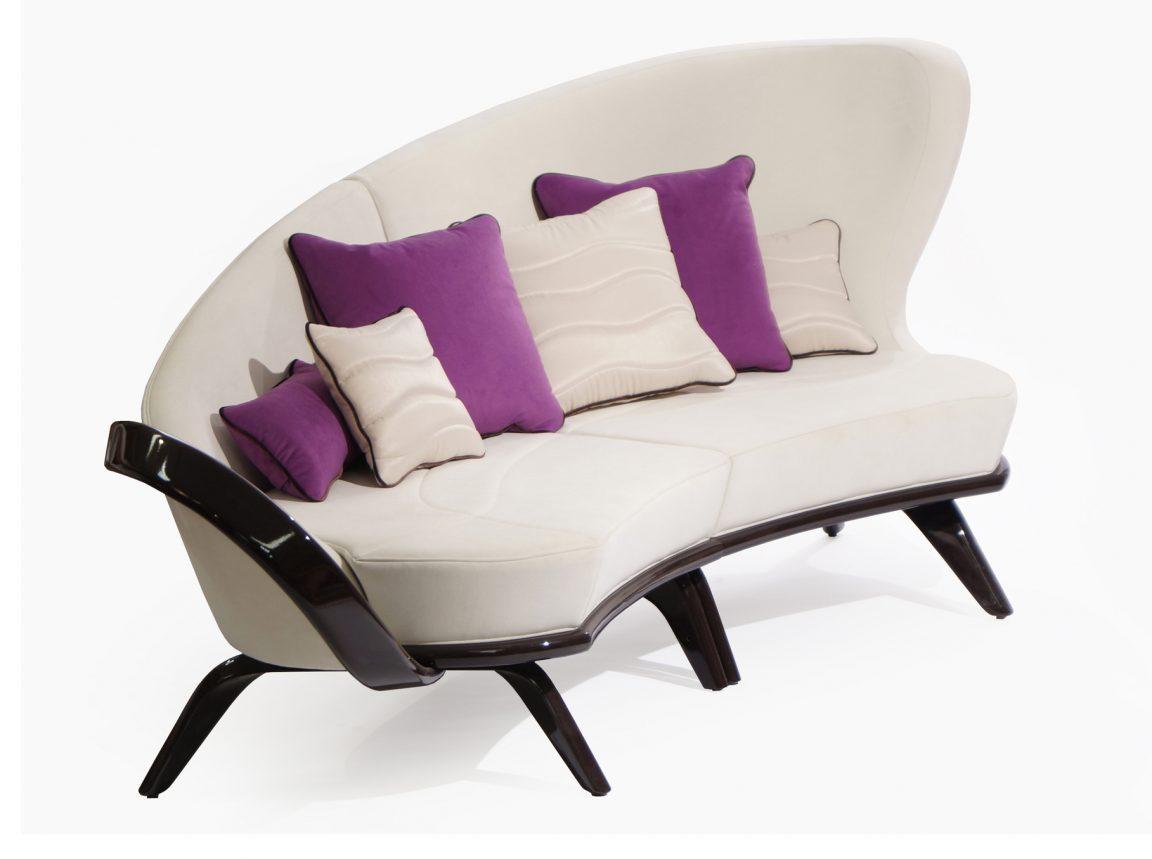 Оригинальный радиусный диван большой
